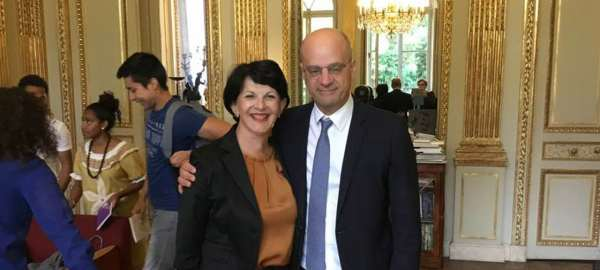 Monique MILLET rencontre à Paris Jean Michel BLANQUER, Ministre de l'éducation nationale